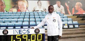Eliud Kipchoge va por el nuevo récord mundial de maratón debajo de las 2 horas
