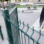 Deportista encerrada en una plaza