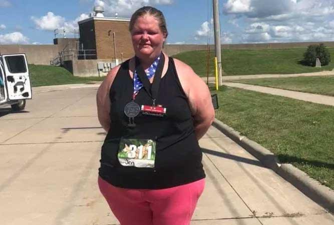 Tiene el record de ser la personas mas obesa en terminar un maratón