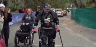 Con un exoesqueleto bate record mundial en maratón